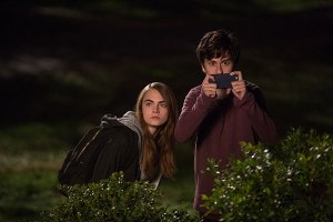Cara Delevingne as Margo and Nat Wolff as Quentin.