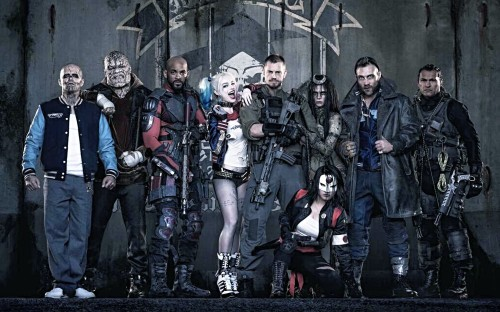 The (almost) full cast of 'Suicide Squad.'
