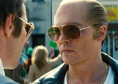 """Johnny Depp terrifies as James """"Whitey"""" Bulger."""