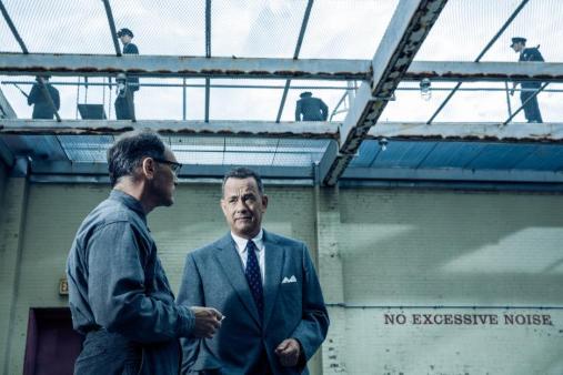 Mark Rylance as Rudolf Abel and Tom Hanks as Jim Donovan.