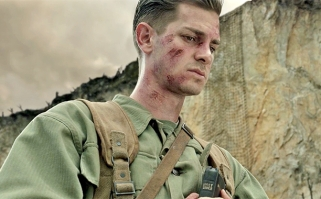 Andrew Garfield is Desmond Doss in 'Hacksaw Ridge'.